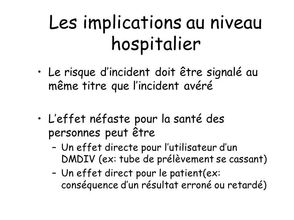 Les implications au niveau hospitalier
