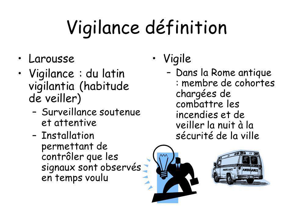 Vigilance définition Larousse