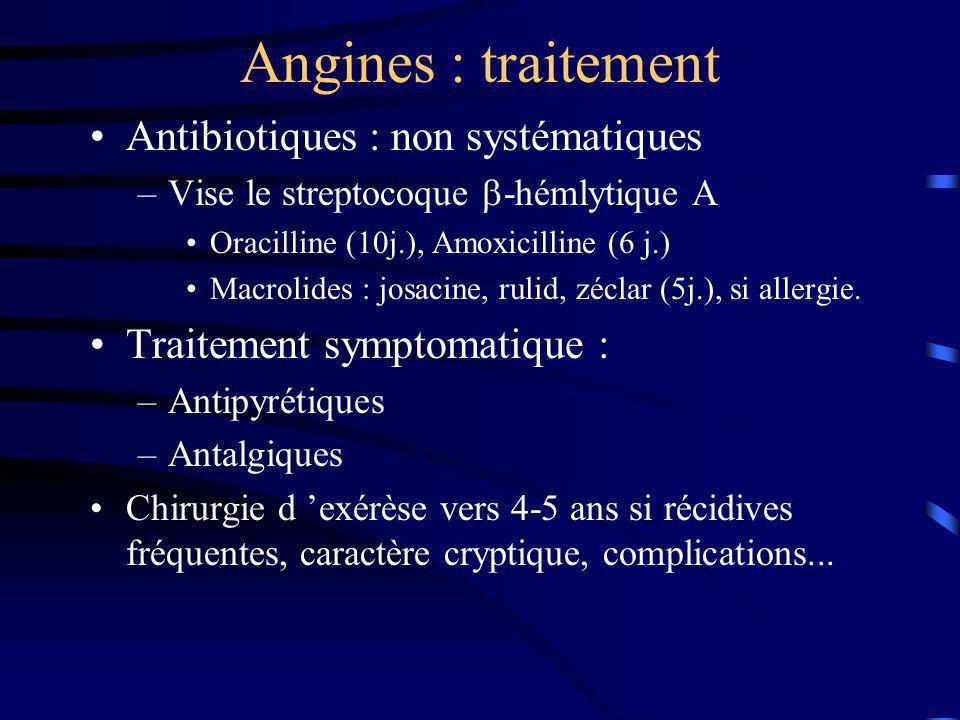 Angines : traitement Antibiotiques : non systématiques