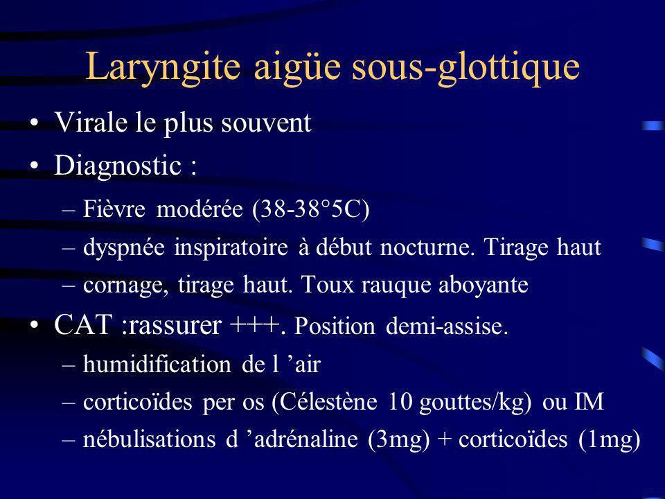 Laryngite aigüe sous-glottique