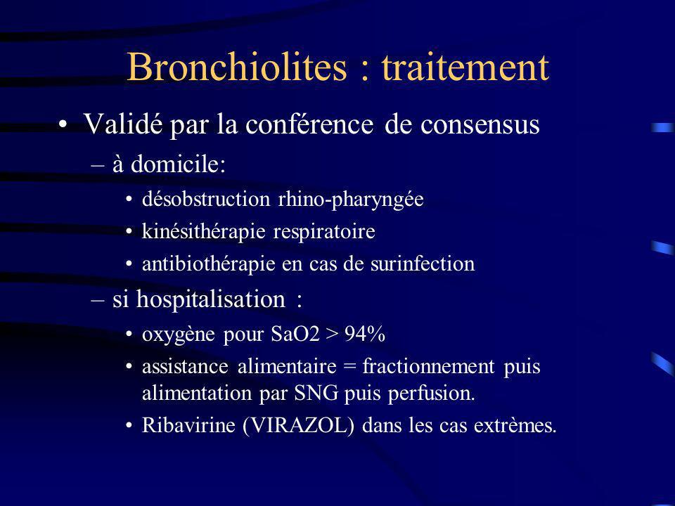 Bronchiolites : traitement