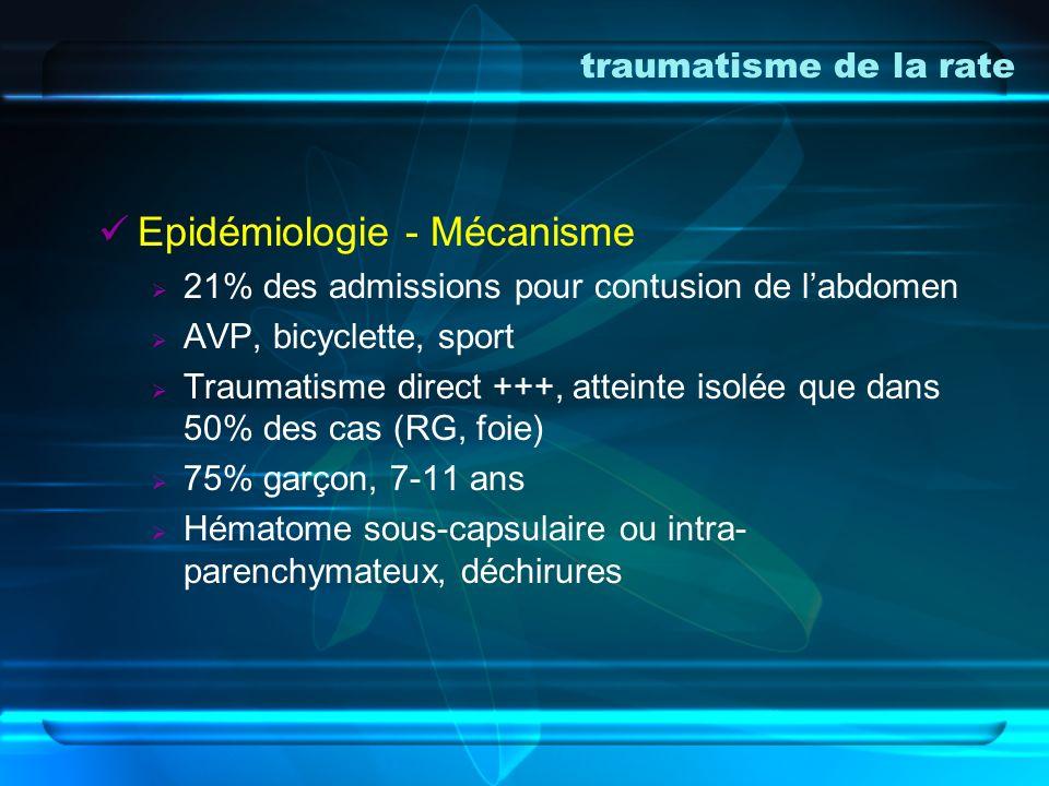 Epidémiologie - Mécanisme
