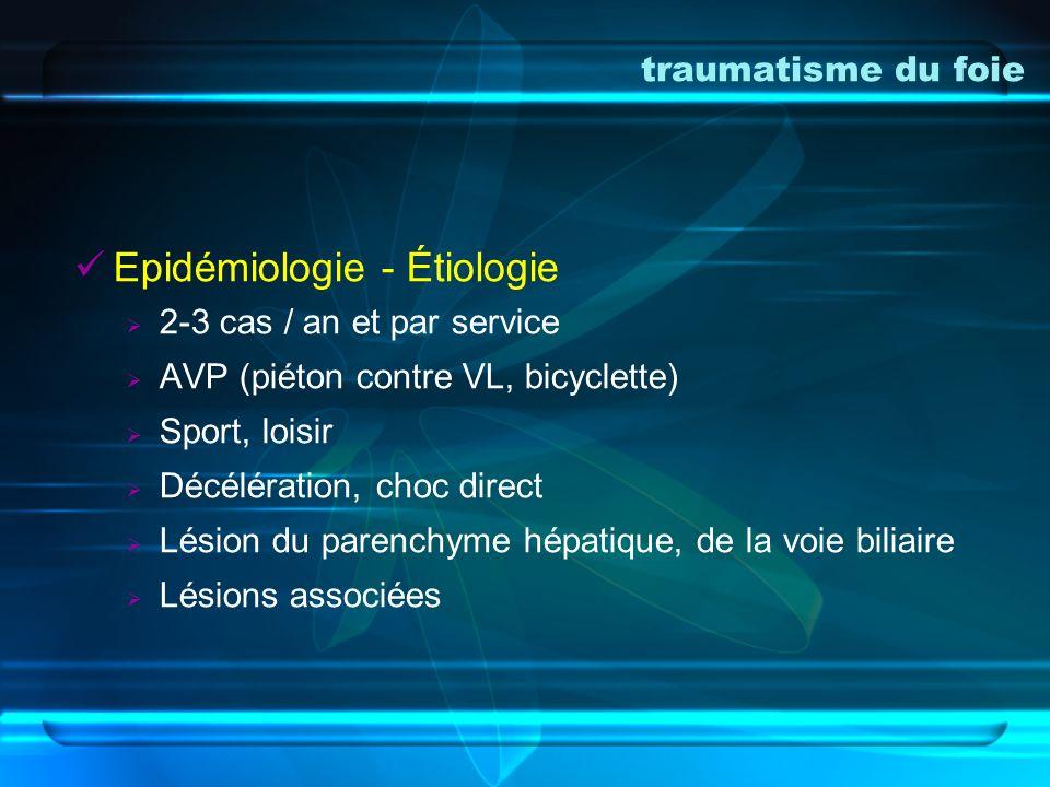 Epidémiologie - Étiologie