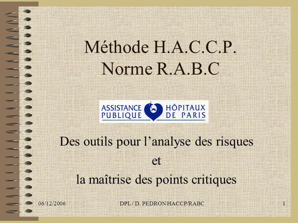 Méthode H.A.C.C.P. Norme R.A.B.C