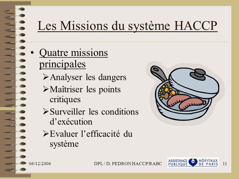 Les Missions du système HACCP