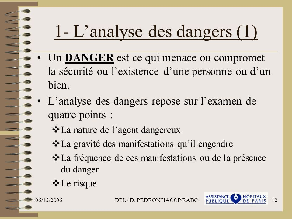 1- L'analyse des dangers (1)
