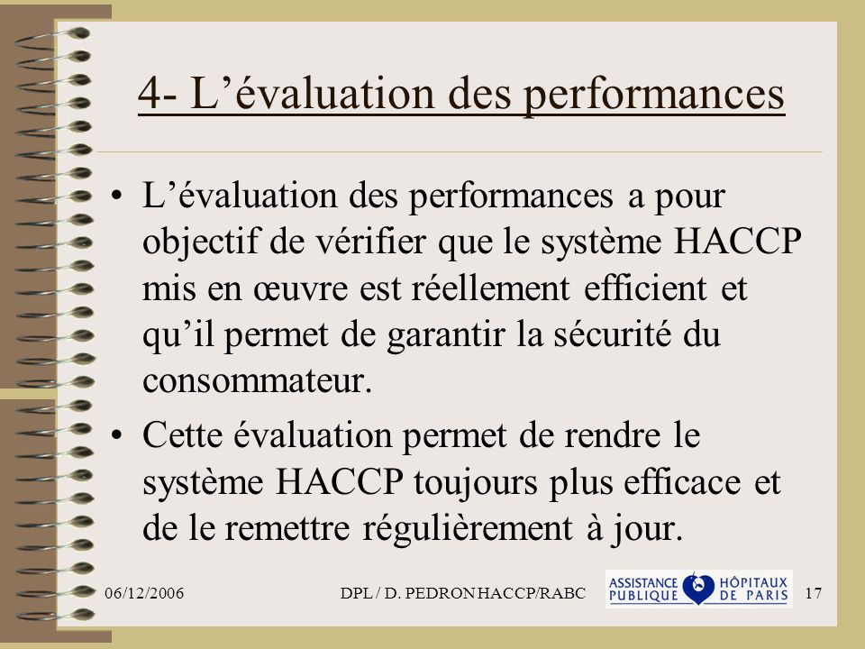 4- L'évaluation des performances