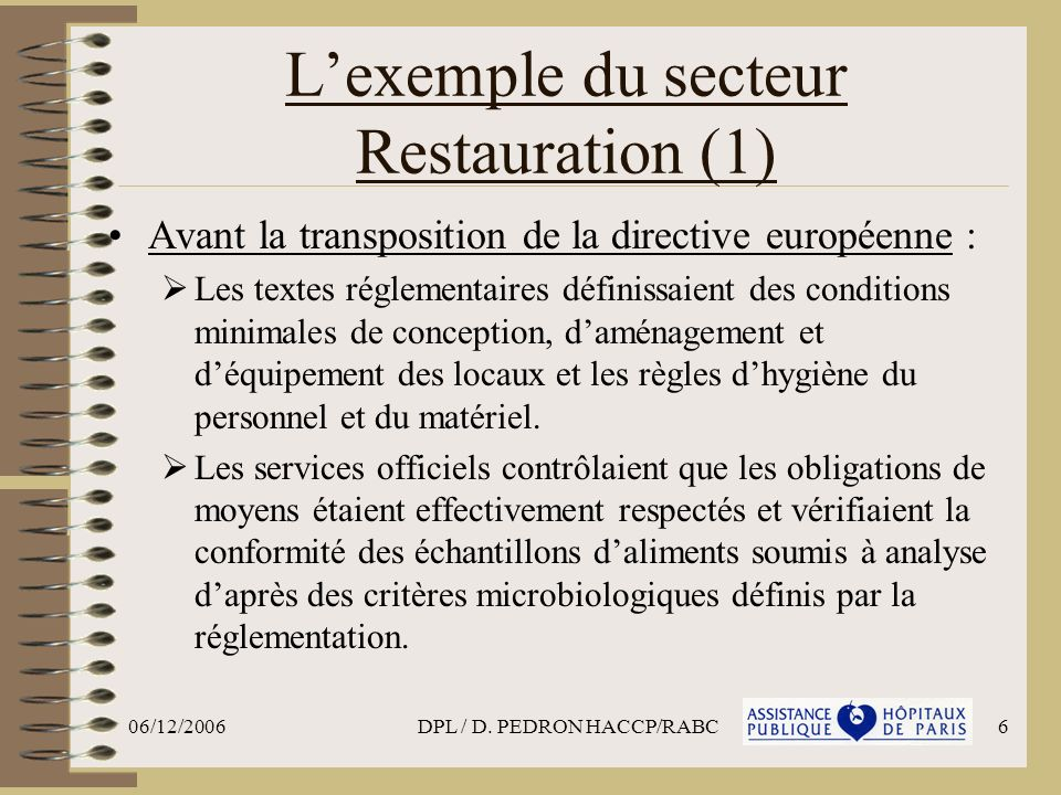 L'exemple du secteur Restauration (1)