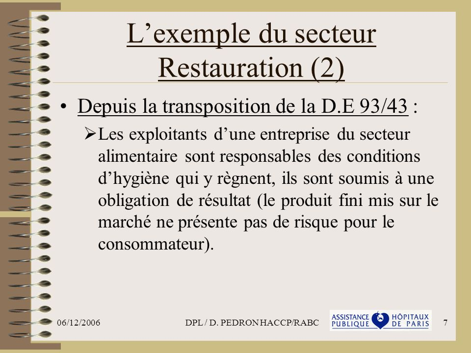 L'exemple du secteur Restauration (2)
