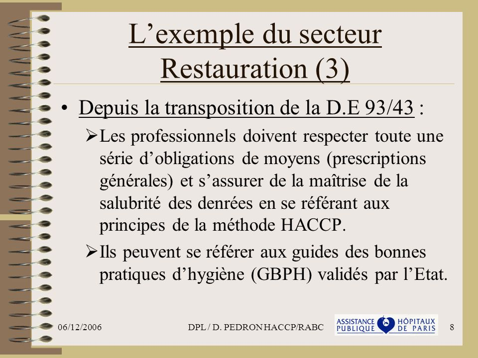 L'exemple du secteur Restauration (3)