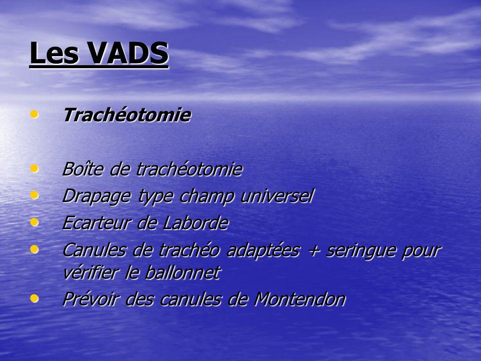 Les VADS Trachéotomie Boîte de trachéotomie