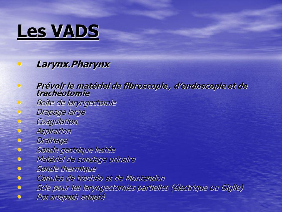 Les VADS Larynx.Pharynx