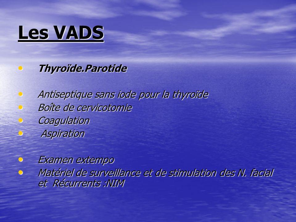 Les VADS Thyroïde.Parotide Antiseptique sans iode pour la thyroïde