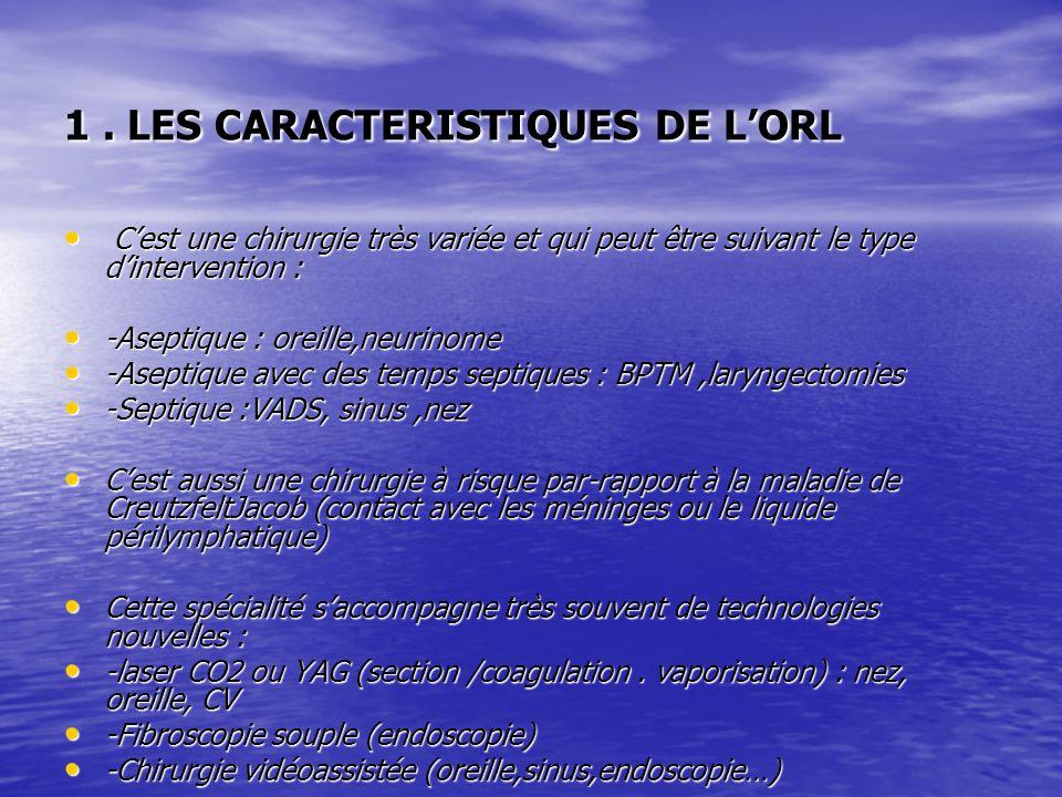 1 . LES CARACTERISTIQUES DE L'ORL