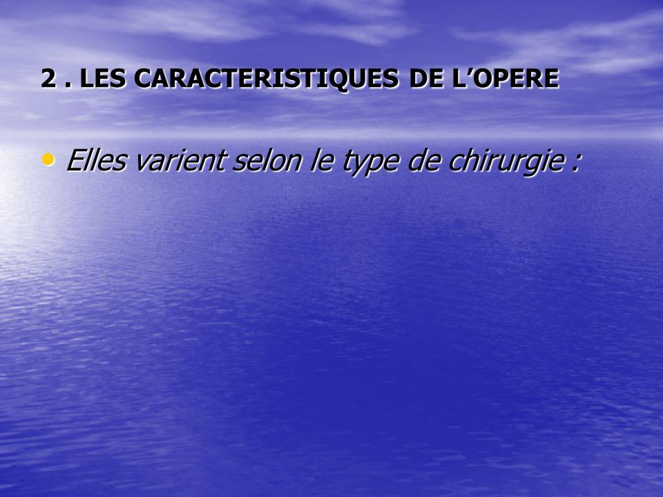 2 . LES CARACTERISTIQUES DE L'OPERE