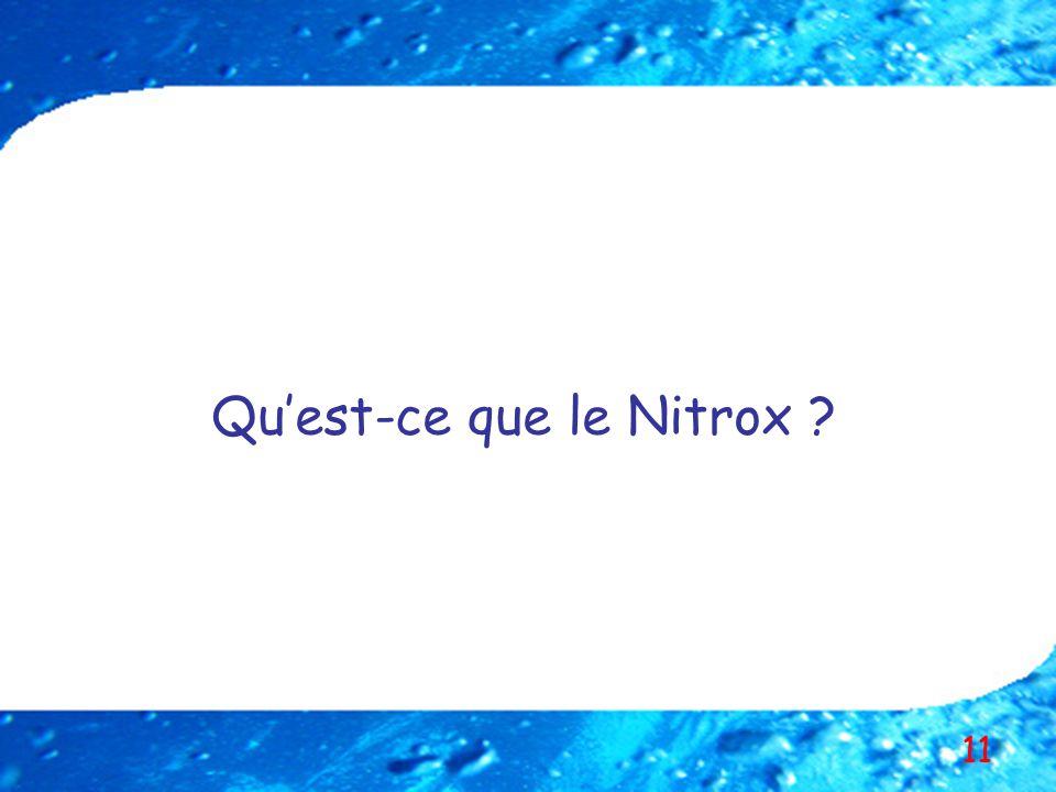 Qu'est-ce que le Nitrox