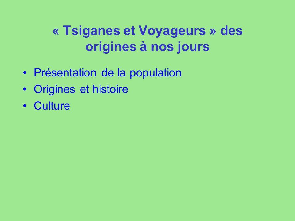 « Tsiganes et Voyageurs » des origines à nos jours