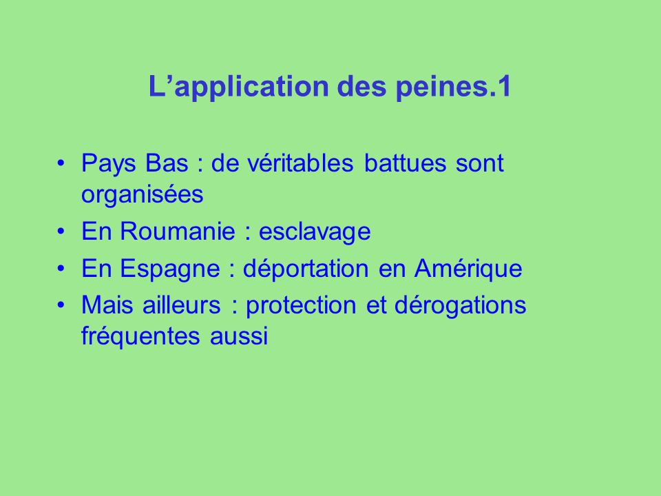 L'application des peines.1