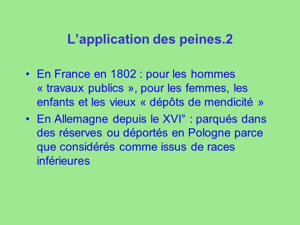 L'application des peines.2