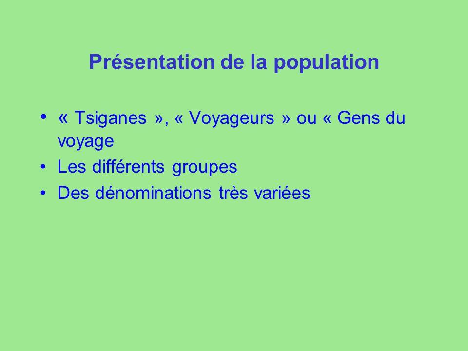 Présentation de la population
