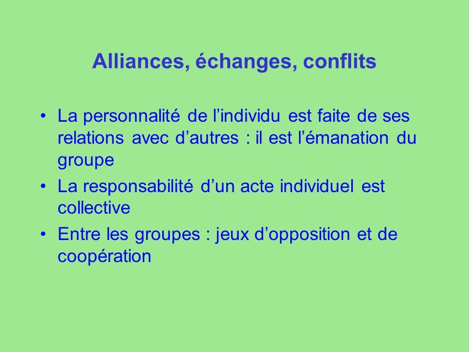 Alliances, échanges, conflits