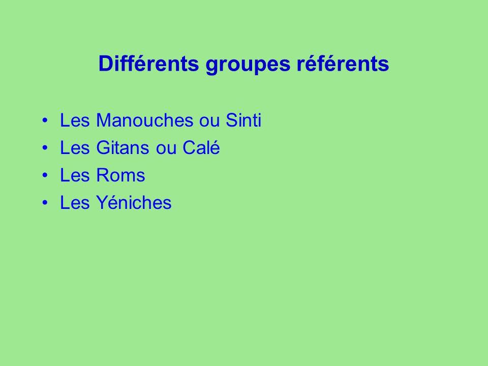 Différents groupes référents
