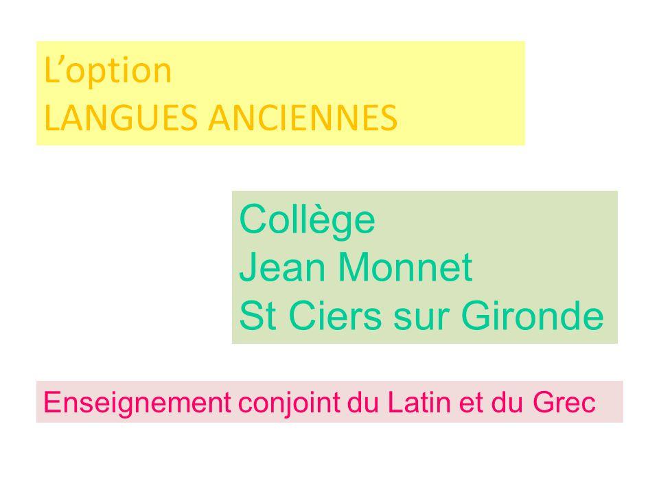 Jean Monnet St Ciers sur Gironde