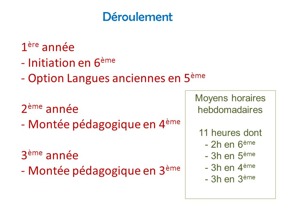 Moyens horaires hebdomadaires