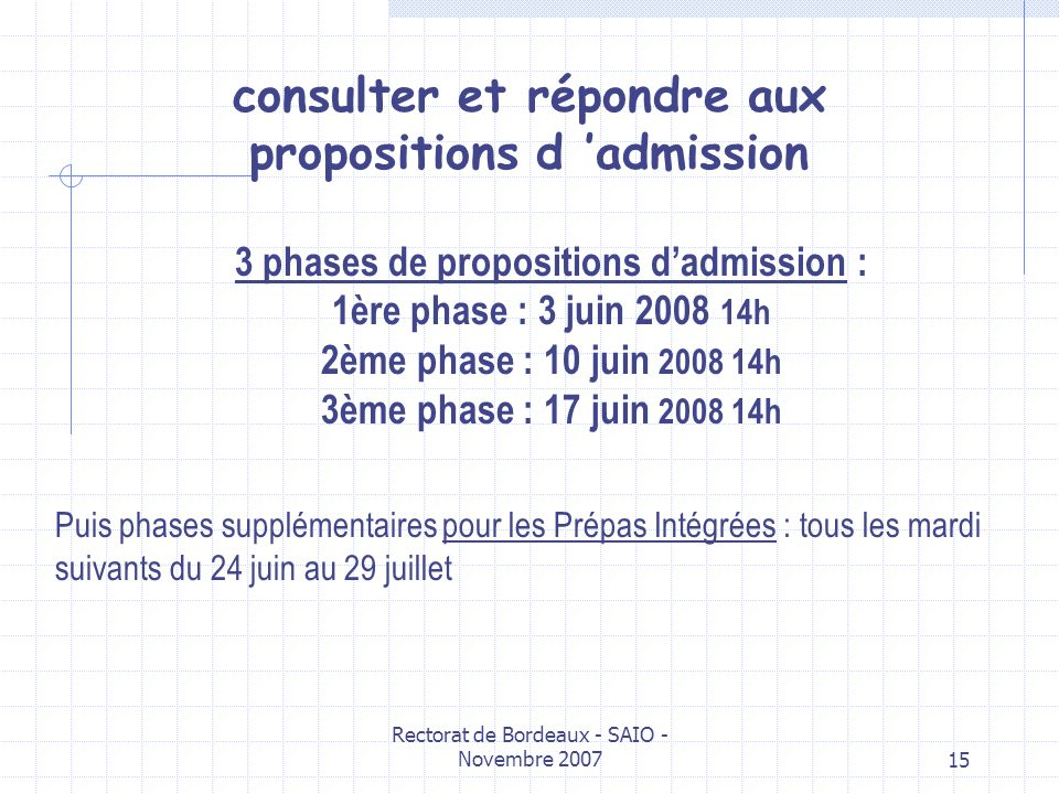 consulter et répondre aux propositions d 'admission