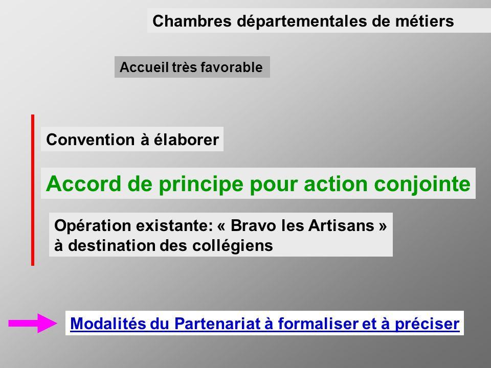 Accord de principe pour action conjointe