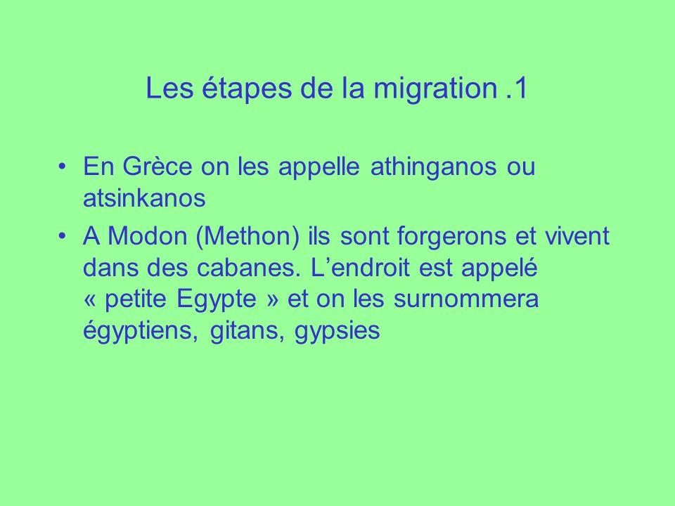 Les étapes de la migration .1