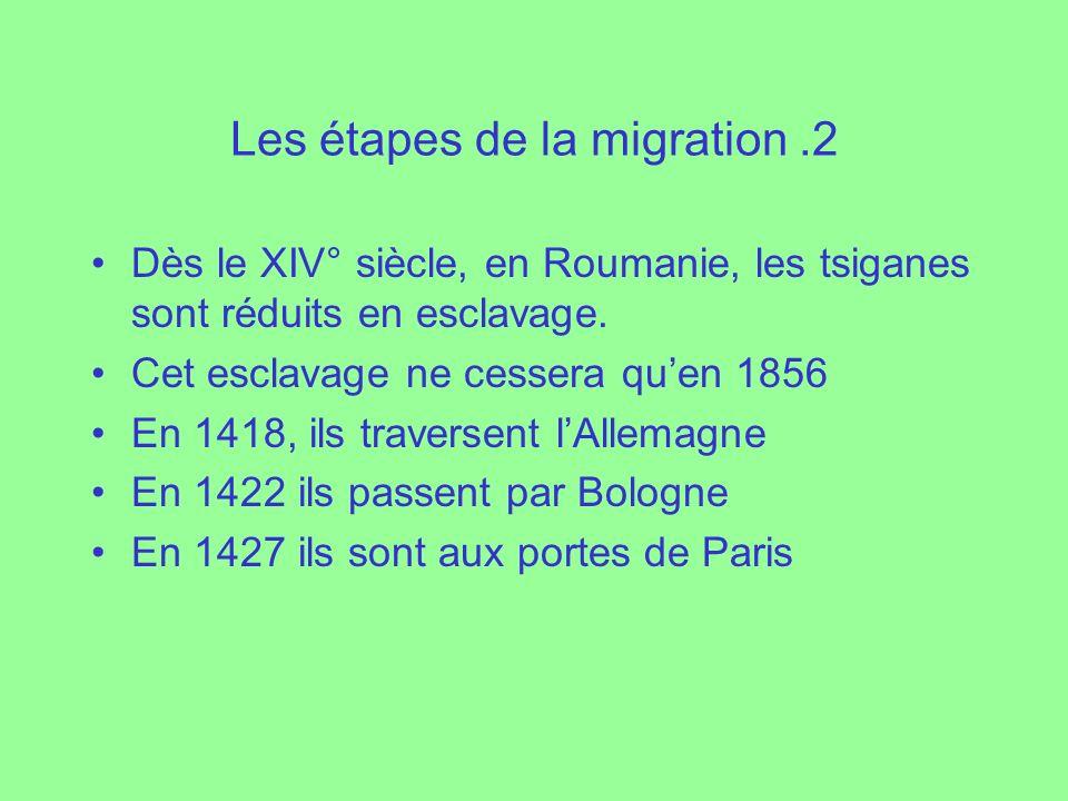 Les étapes de la migration .2