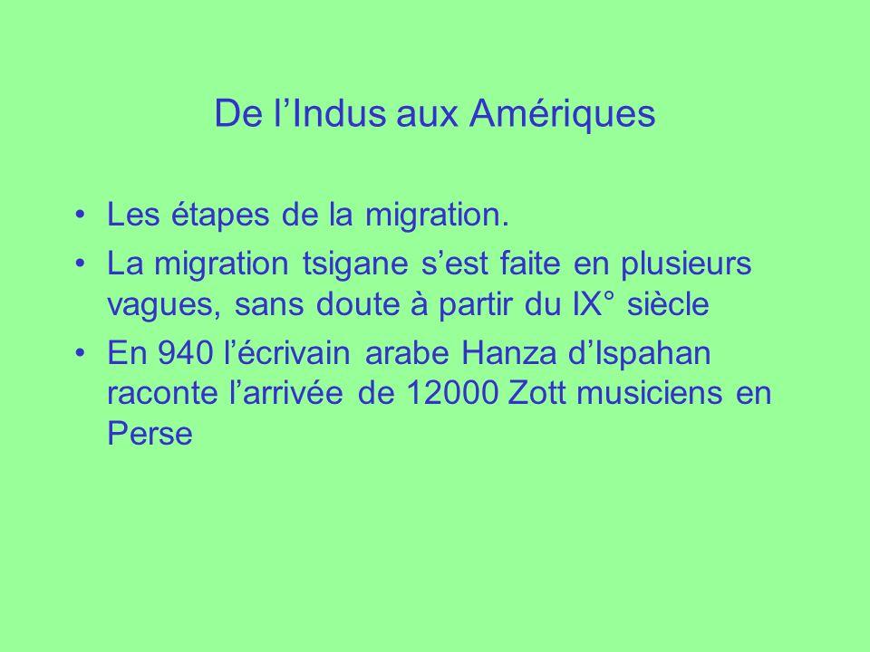 De l'Indus aux Amériques