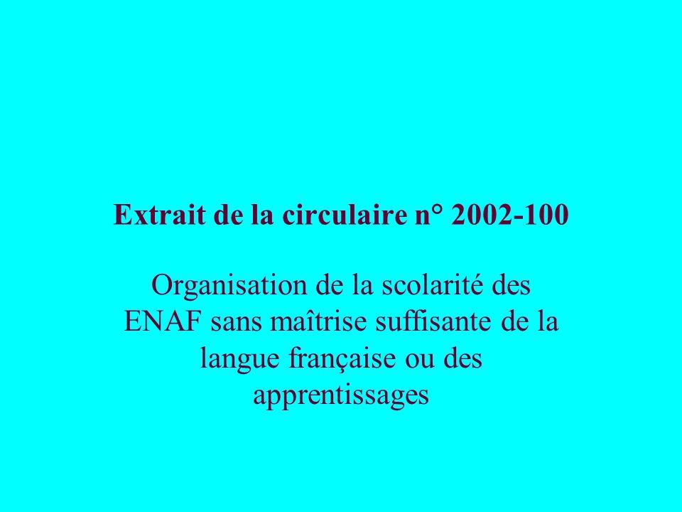 Extrait de la circulaire n° 2002-100