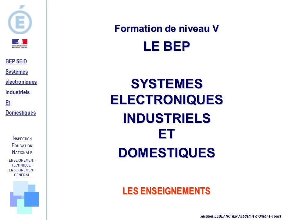 LE BEP SYSTEMES ELECTRONIQUES INDUSTRIELS ET DOMESTIQUES