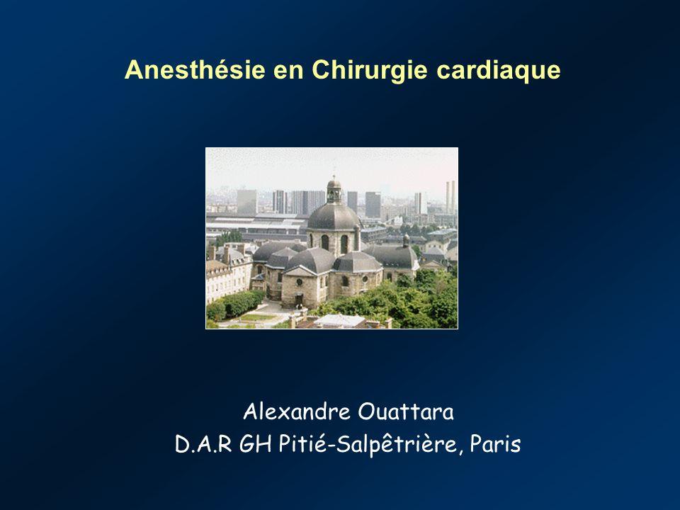 Anesthésie en Chirurgie cardiaque