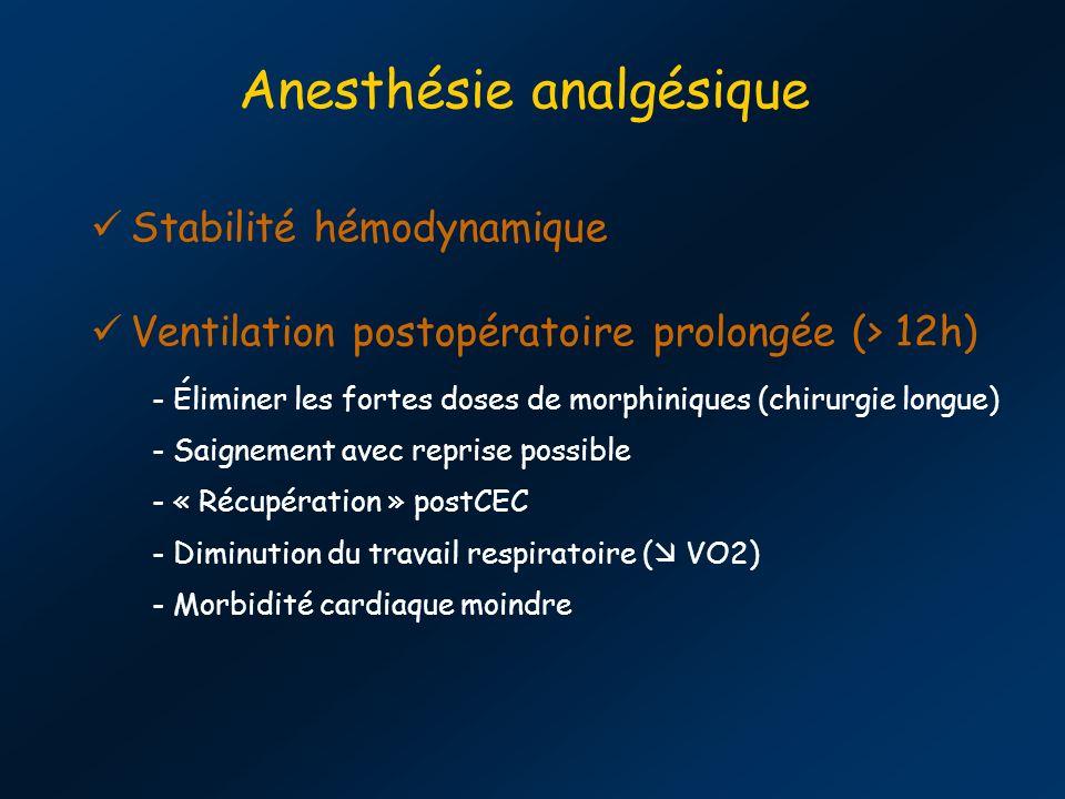 Anesthésie analgésique