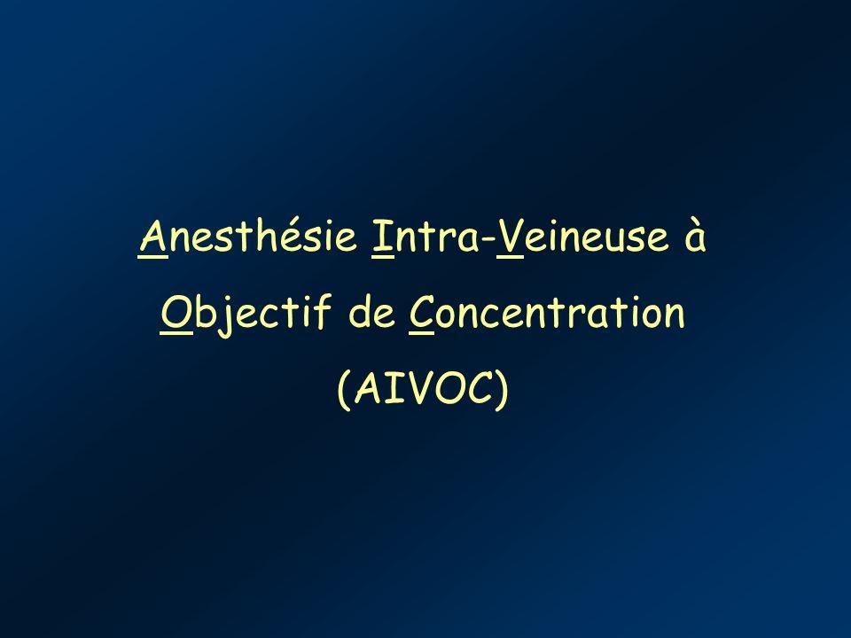 Anesthésie Intra-Veineuse à Objectif de Concentration (AIVOC)