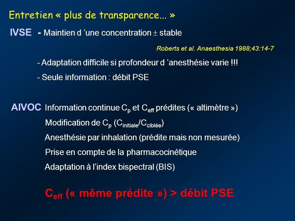 Entretien « plus de transparence... »