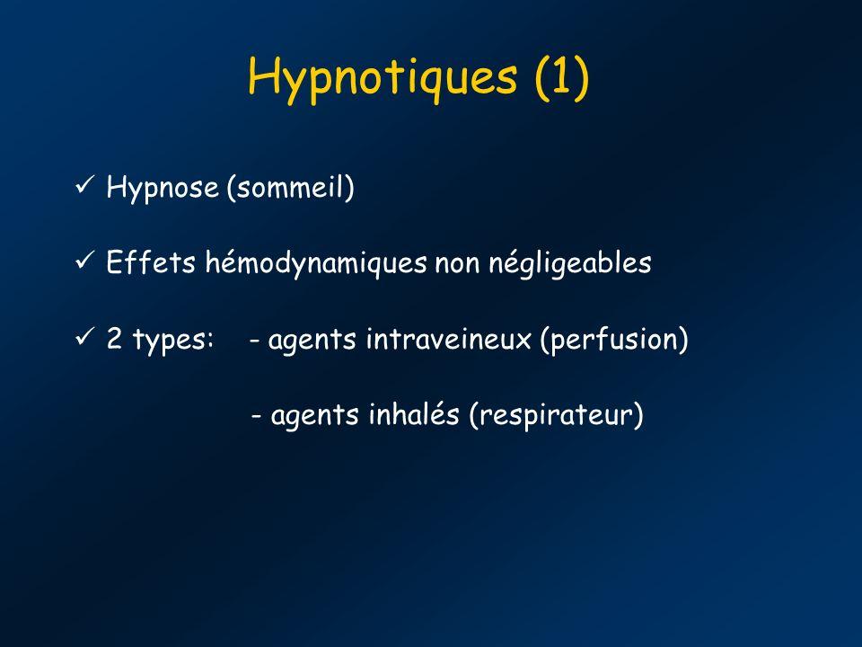 Hypnotiques (1) Hypnose (sommeil)