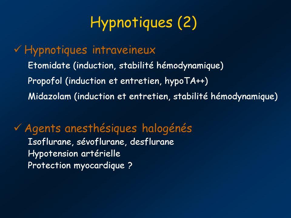 Hypnotiques (2) Hypnotiques intraveineux