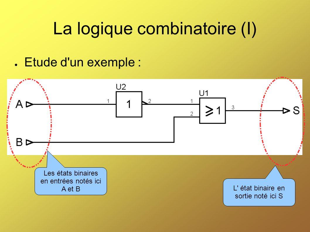 La logique combinatoire (I)