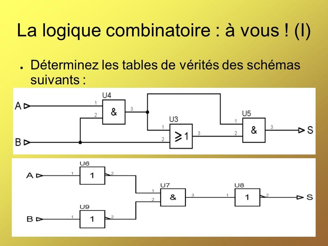 La logique combinatoire : à vous ! (I)