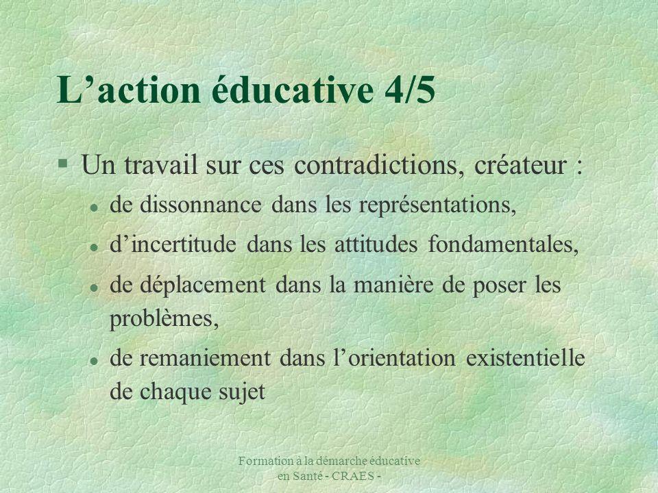 Formation à la démarche éducative en Santé - CRAES -