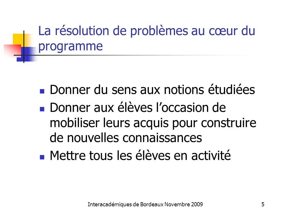 La résolution de problèmes au cœur du programme