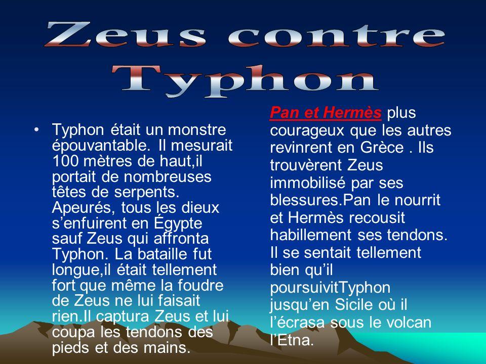 Zeus contre Typhon.