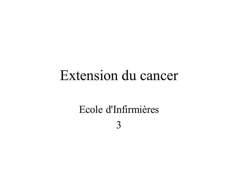 Extension du cancer Ecole d Infirmières 3