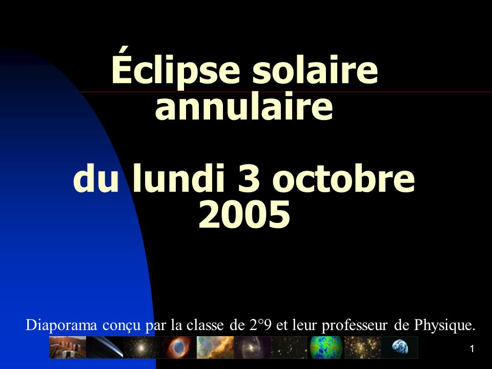Éclipse solaire annulaire du lundi 3 octobre 2005