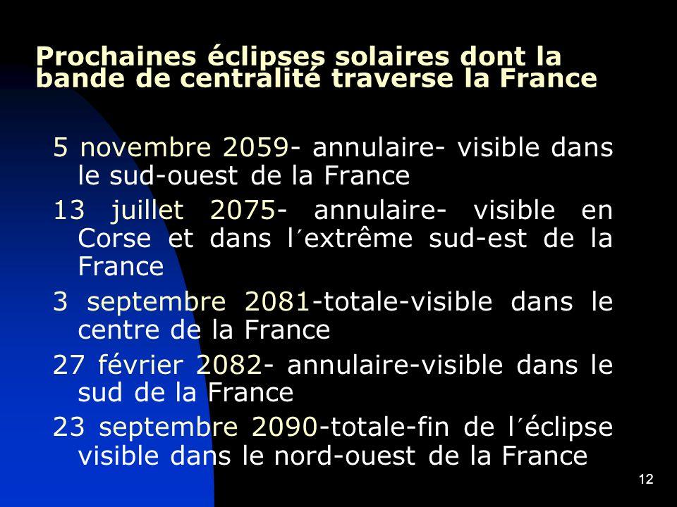 5 novembre 2059- annulaire- visible dans le sud-ouest de la France