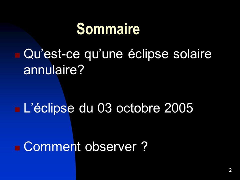 Sommaire Qu'est-ce qu'une éclipse solaire annulaire